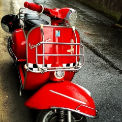 Photographs Danny Touw Red Scooter