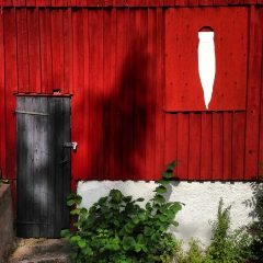 Photographs Danny Touw Red Wall Sweden