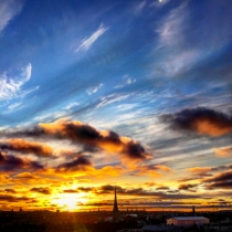 Danny Touw Photographs Stockholm Sunsets Series 1 - 1
